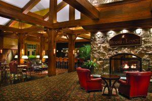 Hershey Lodge, Lobby, Fireplace, Lobby Bar